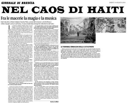 Zombi Blues dans Giornale di Brescia (2)