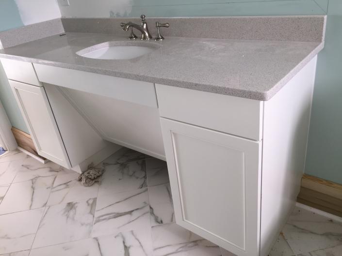 handicap bathroom sinks and cabinets