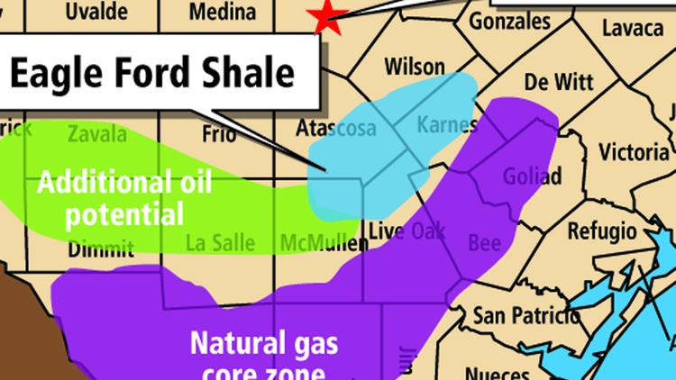Gas Shales Texas Map