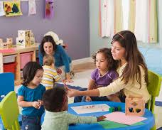 parents and children in pre-school