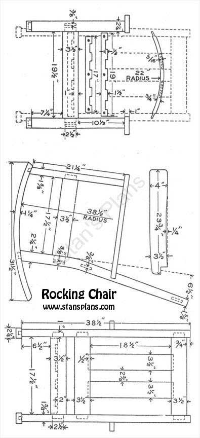 how to build free rocking chair plans pdf plans woodworking plans