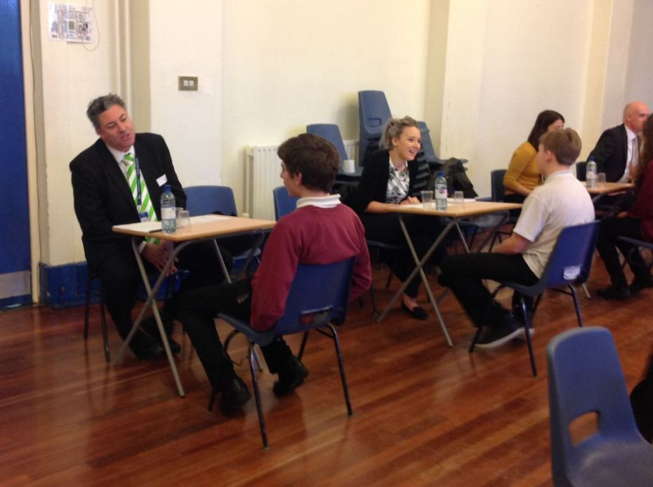 Students gain career advice from airport volunteers
