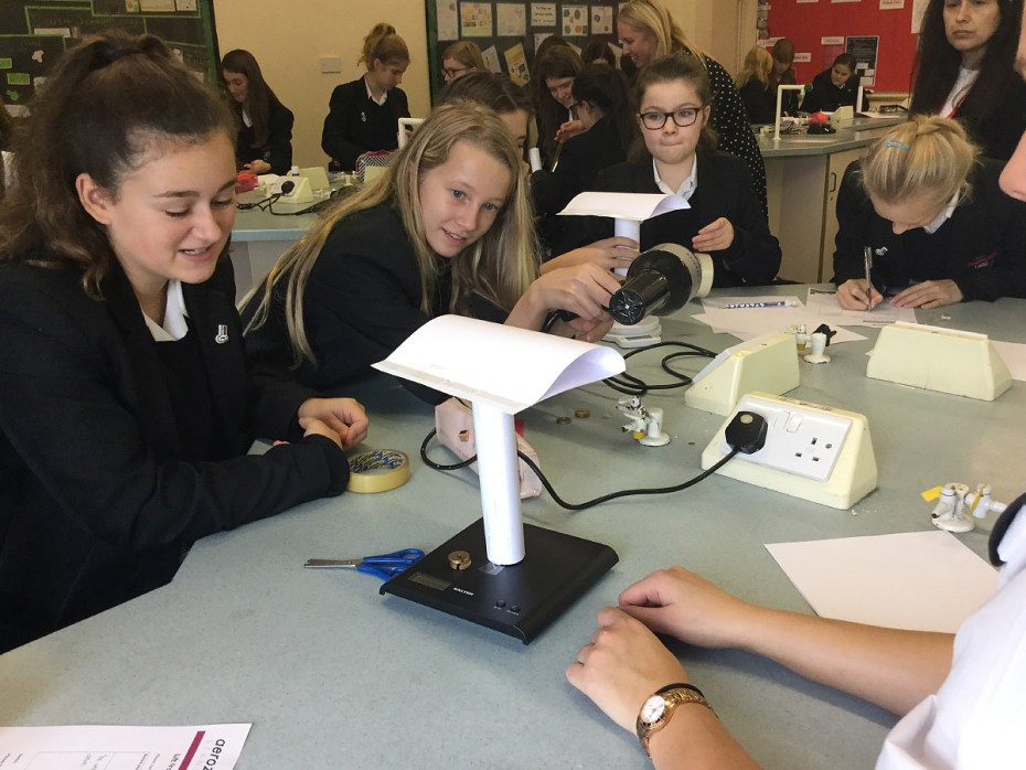 Saffron Walden County High School girls attend Aerozone Roadshow workshop