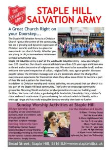 Outreach Leaflet