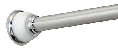 interdesign york medium shower curtain tension rod white stainless steel