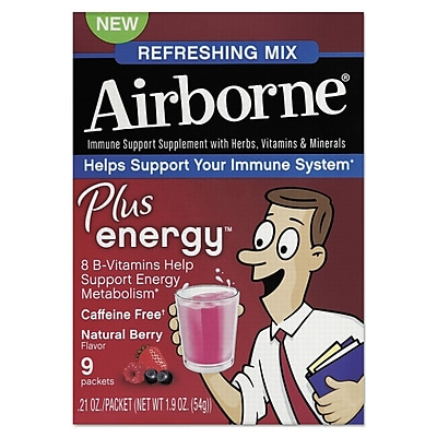 Airborne® Immune Support Plus Energy™ Packet, Natural ...