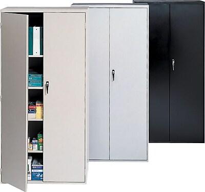 staples armoire de rangement verrouillable en acier 72 po