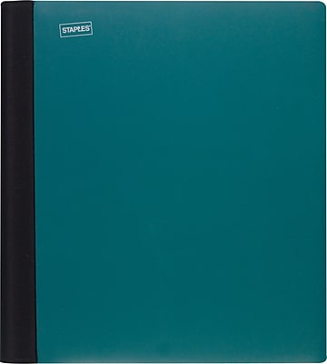 """Staples® Accel® Spine Guard™Notebook, 3 Subject, 8-1/2"""" x ..."""