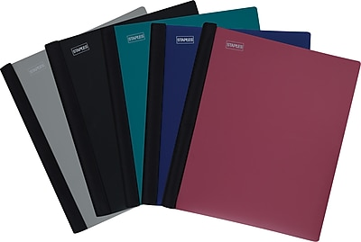 """Staples Accel Spine Guard™ 1 Subject Notebook, 8 1/2"""" x 11 ..."""