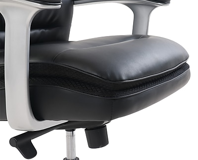 beautyrest platinum sofil bonded leather executive chair black 49404b