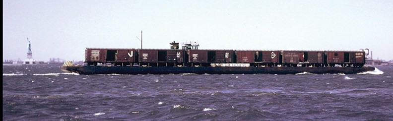 This is what a floating rail barge looks like.