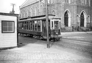 This was Coffey Park trolley stop, across from Visitation Church