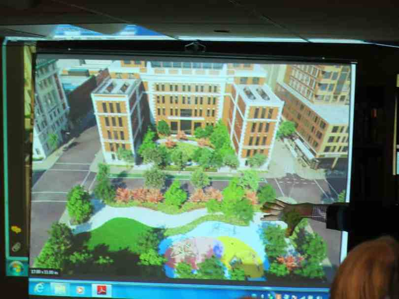 This rendering shows one of Fortis' open space ideas.