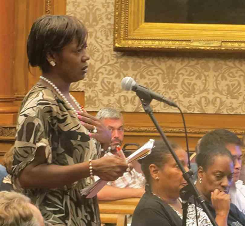 Karen Broughton representing Assistant Speaker Felix Ortiz. (photos by Fiala)