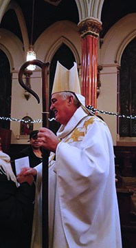 Bishop Neil Tiedemann at mass.