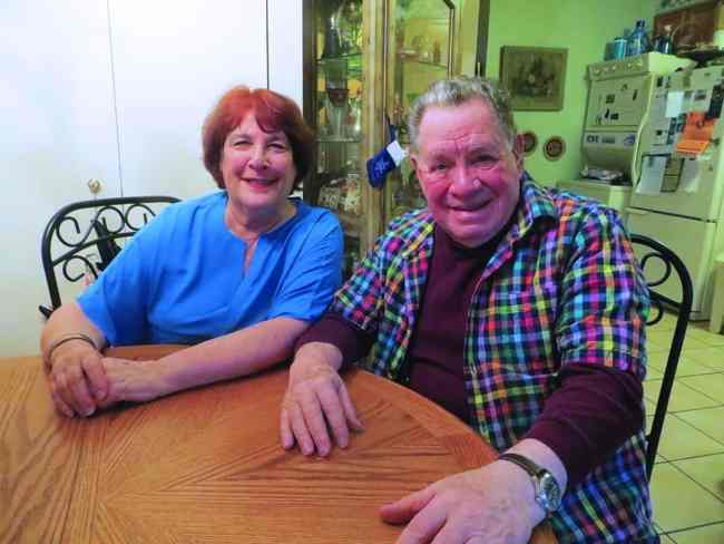 Nino and Judy Pantano sit around their kitchen table in their President Street home. (photo by George Fiala)