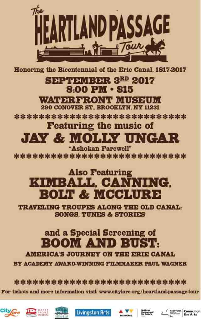 Commemorate the Erie Canal Bicentennial with songs, stories… …and a premiere of an Erie Canal Documentary!