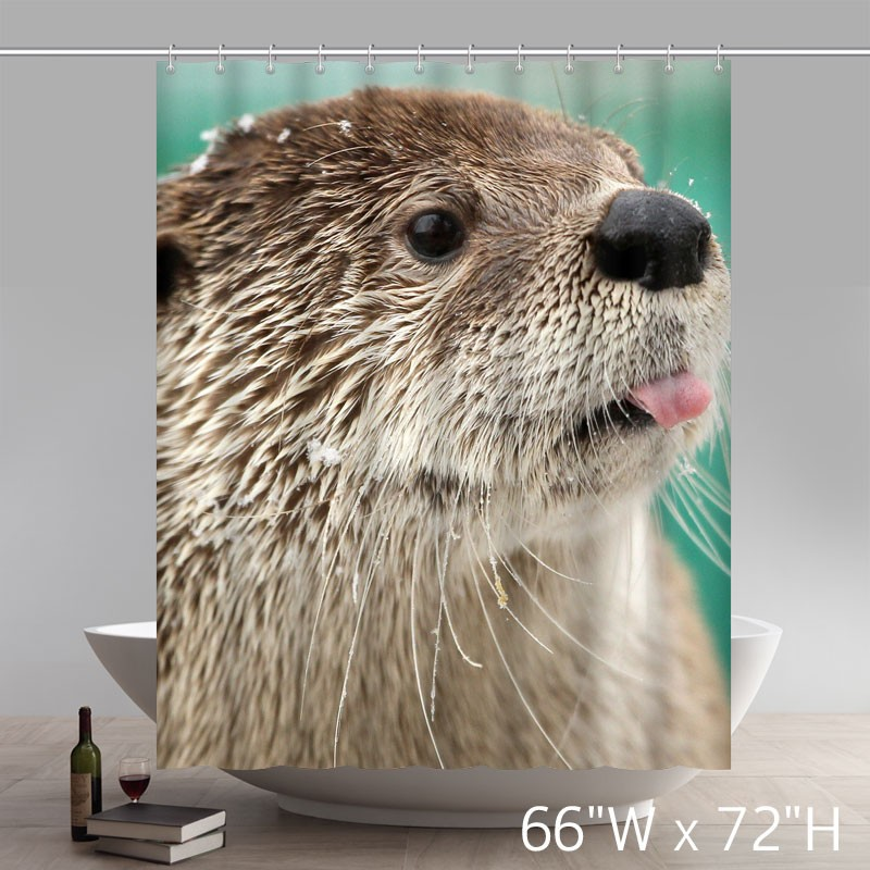 a cute otter funny otter polyester shower curtain star unique shower curtains