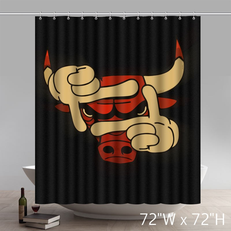symbol chicago bulls waterproof bathroom shower curtain polyester fabric shower curtain star unique shower curtains