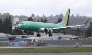 ASSOCIATED PRESS / April 10                                 A Boeing 737 MAX 8 airplane being built for India-based Jet Airways lands following a test flight at Boeing Field in Seattle in April. Boeing and the Federal Aviation Administration are both partly at fault for the failures of the 737 Max, the plane model involved in two fatal crashes, according to a new report.