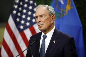 ASSOCIATED PRESS                                 Former New York City Mayor Michael Bloomberg spoke, Feb. 26, at a news conference at a gun control advocacy event in Las Vegas. Bloomberg has opened door to a potential presidential run, saying the Democratic field 'not well positioned' to defeat Trump.