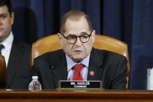 ASSOCIATED PRESS                                 House Judiciary Committee Chairman Rep. Jerrold Nadler, D-N.Y., voted yes on the second article of impeachment against President Donald Trump during a House Judiciary Committee meeting, Friday, on Capitol Hill in Washington.