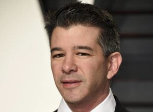 EVAN AGOSTINI/INVISION/ASSOCIATED PRESS                                 Uber CEO Travis Kalanick arrived at the Vanity Fair Oscar Party, in Feb. 2017, in Beverly Hills, Calif. Former Uber CEO Kalanick will resign from the company's board next week, effectively severing ties with the company he co-founded a decade ago.