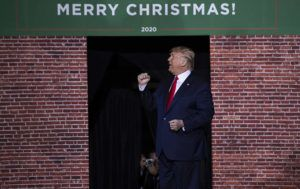 ASSOCIATED PRESS                                 President Donald Trump spoke, Dec. 18, during a campaign rally at Kellogg Arena, in Battle Creek, Mich.