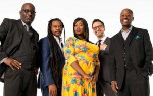 COURTESY RANKY TANKY                                 Ranky Tanky, a quintet that specializes in jazz-influenced arrangements of the traditional African-American Gullah music of the Southeastern United States, won the Grammy Award for Best Regional Roots Music album today.