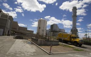 STAR-ADVERTISAER / AUG. 2016                                 A garbage truck exited the tipping floor area at the H-Power plant in Campbell Industrial Park. Honolulu firefighters responded to an early morning fire that broke out at the H-Power plant at Campbell Industrial Park.