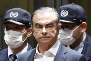 KYODO NEWS VIA ASSOCIATED PRESS                                 Former Nissan Chairman Carlos Ghosn left Tokyo's Detention Center, April 25, for bail in Tokyo. By jumping bail, Ghosn, who had long insisted on his innocence, has now committed a clear crime and can never return to Japan without going to jail.