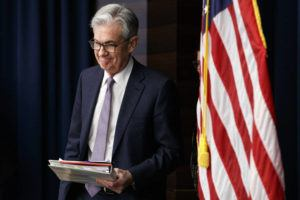 ASSOCIATED PRESS Federal Reserve Chair Jerome Powell arrives to speak at a news conference after the Federal Open Market Committee meeting in Washington last month.