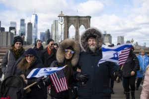 ASSOCIATED PRESS People take part in a march crossing the Brooklyn Bridge in solidarity with the Jewish community after recent string of anti-semitic attacks throughout the greater New York area today in New York.