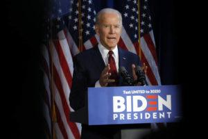 ASSOCIATED PRESS                                 Democratic presidential candidate former Vice President Joe Biden made a foreign policy statement, today, in New York.