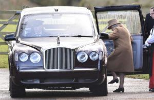 "ASSOCIATED PRESS                                 Britain's Queen Elizabeth II leaves after attending a morning church service at St Mary Magdalene Church in Sandringham, England, today. Prince Harry and his wife Meghan have declared they will ""work to become financially independent"" as part of a surprise announcement saying they wish ""to step back"" as senior members of the royal family."