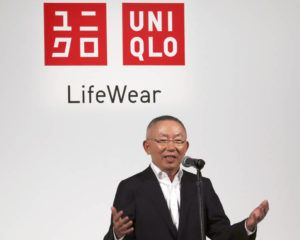 ASSOCIATED PRESS                                 Uniqlo chief executive Tadashi Yanai spoke to the media, in May 2016, in Tokyo. The University of California Los Angeles received a $25 million donation from Tadashi Yanai, the founder and CEO of Japanese clothing giant Uniqlo, the school announced today.