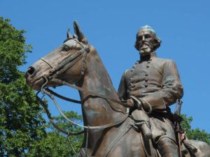 ASSOCIATED PRESS / 2017                                 A statue of Confederate Gen. Nathan Bedford Forrest in a park in Memphis, Tenn. On Friday, Jan. 7, Gov. Bill Lee's office said he will introduce legislation that would amend a law requiring Tennessee to honor Forrest, an early leader of the Ku Klux Klan.