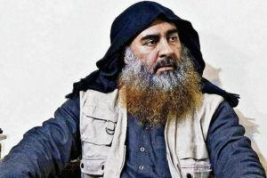 DEPARTMENT OF DEFENSE VIA AP                                 A file image released by the Department of Defense on Oct. 30, 2019 shows an image of Islamic State leader Abu Bakr al-Baghdadi.