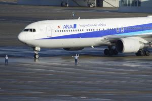 ASSOCIATED PRESS                                 A Japanese chartered plane carrying evacuees from Wuhan, China, landed at Haneda international airport in Tokyo on Wednesday.