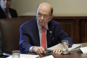 ASSOCIATED PRESS                                 Commerce Secretary Wilbur Ross listened to President Donald Trump speak, in Oct. 2019, during a Cabinet meeting in the Cabinet Room of the White House in Washington. Ross suggested, today, that a viral outbreak in China could offer an upside to the U.S. economy by encouraging manufacturers to move back to America.