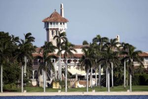 ASSOCIATED PRESS                                 The Mar-a-Lago resort, seen in Nov. 2016, owned by President-elect Donald Trump in Palm Beach, Fla. Officers fired shots at an SUV that barreled past a security checkpoint at President Donald Trump's Mar-a-Lago resort today, leading to a car and helicopter chase before officers were able to stop the vehicle and arrest two people.