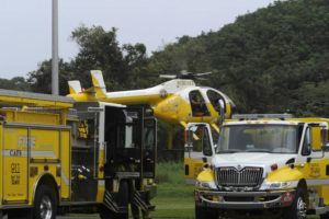 STAR-ADVERTISER FILE / April 2018 Honolulu firefighters found a 25-year-old hiker from Oregon this morning on Kuliouou Trail. The woman, who had been missing since Monday, was found at about 11 a.m. today, and airlifted to safety.