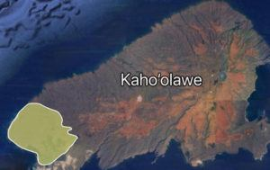 COURTESY GOOGLE                                 More than 2,600 acres of land are still burning on Kahoolawe after a brush fire broke out on the western end of the island Saturday morning.