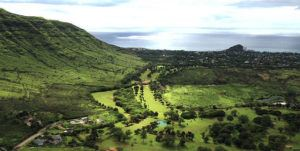 COURTESY PHOTO                                 A Chinese company previously announced plans for a 644-acre resort with hotel, timeshare and residential properties along with a new golf course to be designed by Tiger Woods in Oahu's Makaha Valley. Now the company is seeking outside investors or a possible buyer of the project.