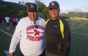 DENNIS ODA / 2015                                 Ron Lee, left, and Cal Lee are changing coaching roles at Saint Louis School.