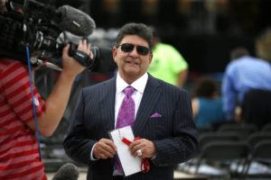 ASSOCIATED PRESS                                 Former owner of the San Francisco 49ers Edward DeBartolo, Jr., was interviewed in Aug. 2015, before the Pro Football Hall of Fame ceremony at Tom Benson Hall of Fame Stadium in Canton, Ohio. President Donald Trump pardoned DeBartolo, who was convicted in gambling fraud scandal.