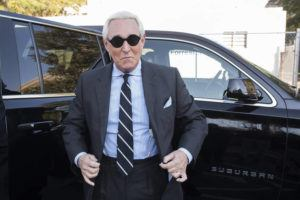 ASSOCIATED PRESS                                 Roger Stone arrives at Federal Court for the second day of jury selection for his federal trial, in Washington, last November.
