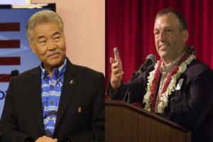 STAR-ADVERTISER FILE PHOTOS / 2018                                 Gov. David Ige, left, and Josh Green.