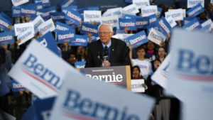 ASSOCIATED PRESS                                 Democratic presidential candidate U.S. Sen. Bernie Sanders, I-Vt., speaks during a campaign rally at the University of Michigan in Ann Arbor, Mich., on Sunday.