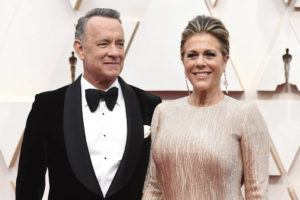INVISION/AP Tom Hanks, left, and Rita Wilson arrive at the Oscars at the Dolby Theatre in Los Angeles on Feb. 9.